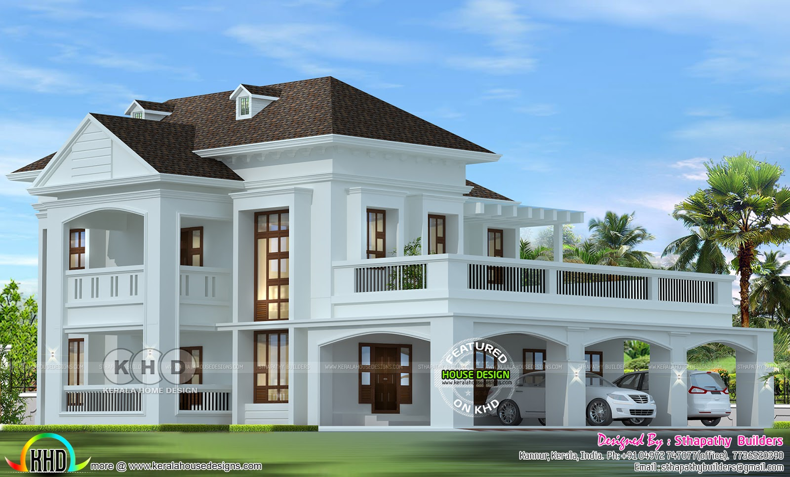 2724 Square Feet Colonial Home Design Kerala Home Design And Floor Plans 8000 Houses