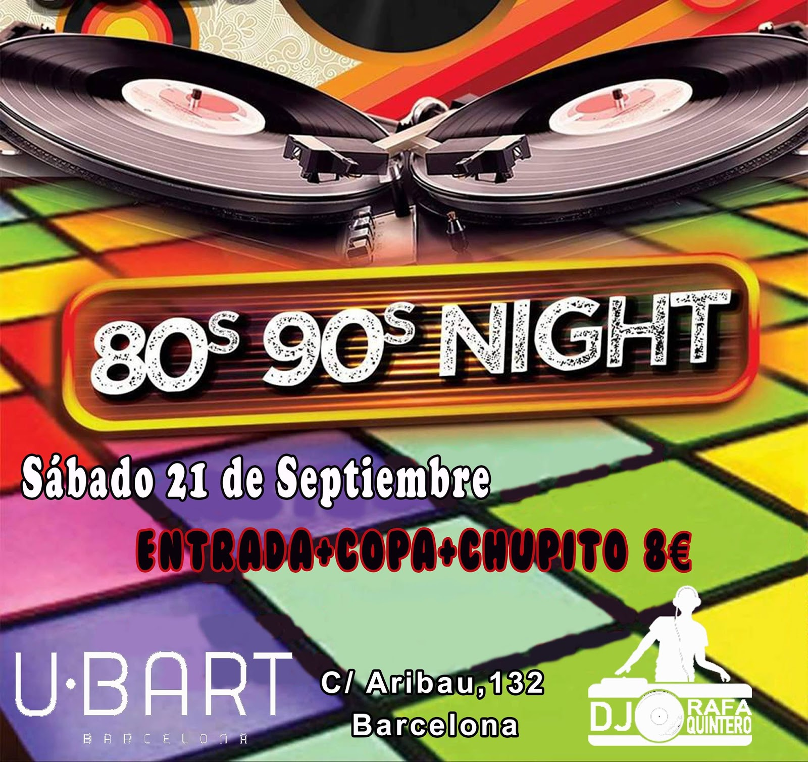 Flyer 80s 90s Night