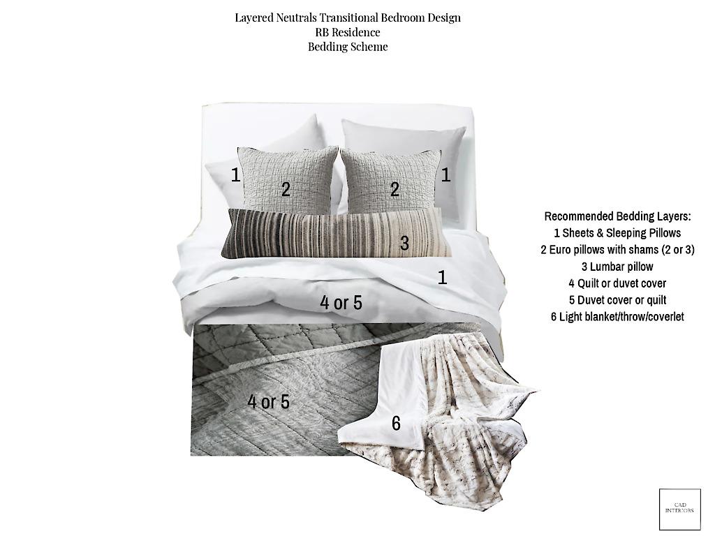 professional online interior e-design primary master bedroom design project