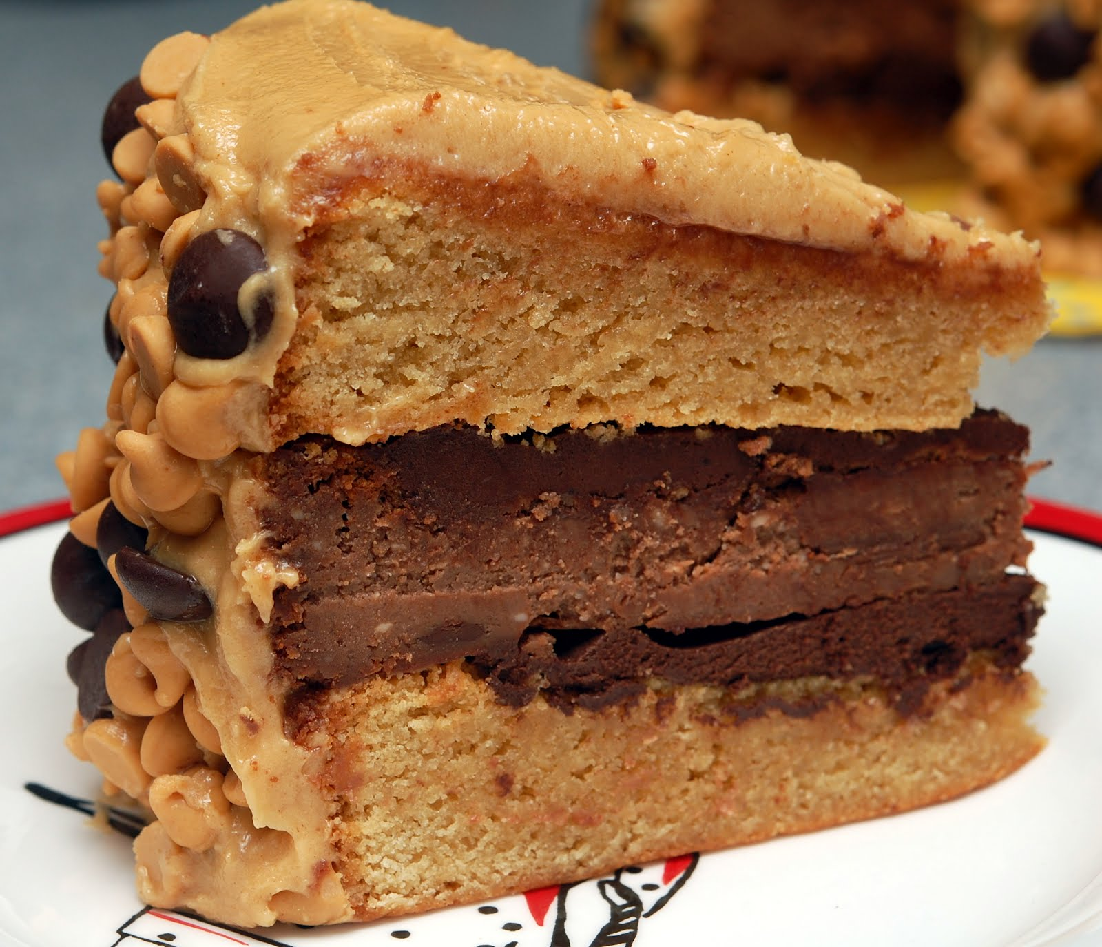 Reese S Overload Cake 2 Peanut Butter Blondie Layers 1