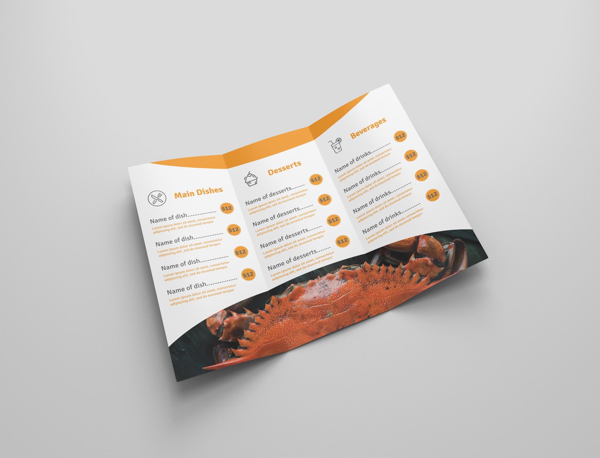 Download free restaurant brochure psd open source menu food psd free download 6
