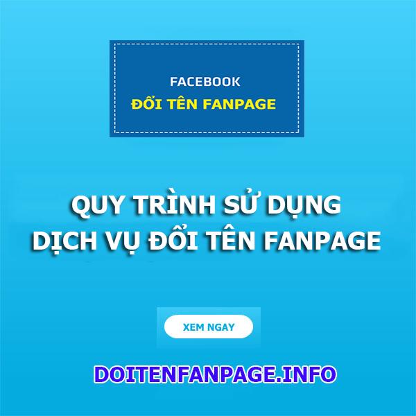 dich vu doi ten fanpage