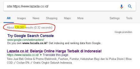 google Index Lazada Indonesia