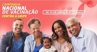 Campanha Nacional de Vacinação contra a gripe segue até o final de maio