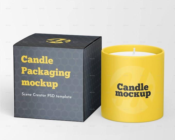 Candle Box Mockup Set[Photoshop][29054300]