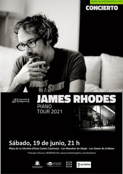 El tour 2021 del pianista James Rhodes llega a la Plaza de la Glorieta de Las Manchas el próximo viernes 19 de junio
