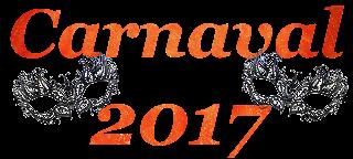 Palavra Carnaval e 2017 com máscaras png