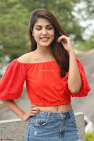 Rhea Chakraborty in Red Crop Top and Denim Shorts Spicy Pics ~  Exclusive 304.JPG
