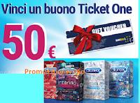 Logo Vinci un evento Live con Durex : in palio 50 buoni TicketOne da 50€