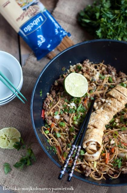 pad thai, lubella, makaron, chinska kuchnia, bernika, kulinarny pamietnik, obiad
