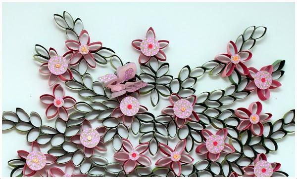 Em rita desastre ideas decora tus paredes con rollos de - Rollos de papel higienico decorados ...