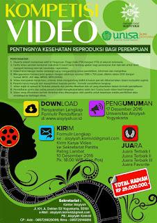 Kompetisi Video 2016 dari Unisa, Hadiah 25 Jt