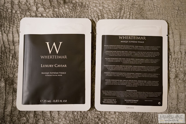 Luxury Caviar Wherteimar review Masque Supreme Visage