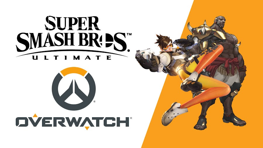 overwatch doomfist tracer super smash bros. ultimate bandai namco nintendo switch crossover fighting game