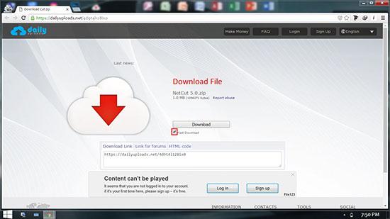 Cara Download Di DailyUploads