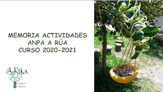Portada da memoria de actividades 2020-2021