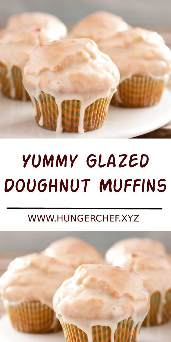 Yummy Glazed Doughnut Muffins Recipe #doughnut #muffins #breakfast #dessert