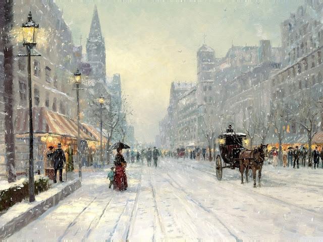 Paesaggio cittadino invernale