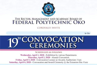 OKOPOLY 19th Convocation Ceremony Programme of Events 2019
