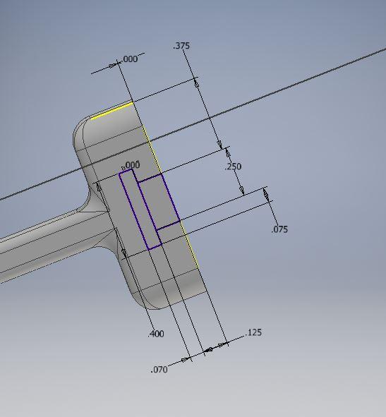 3D Printed Robot: Design: Gripper Attachment Dimensions