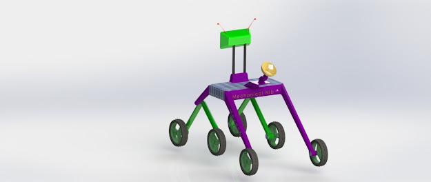 Design of Moon explorer robot with rocker bogie mechanism by Mechanical Nib