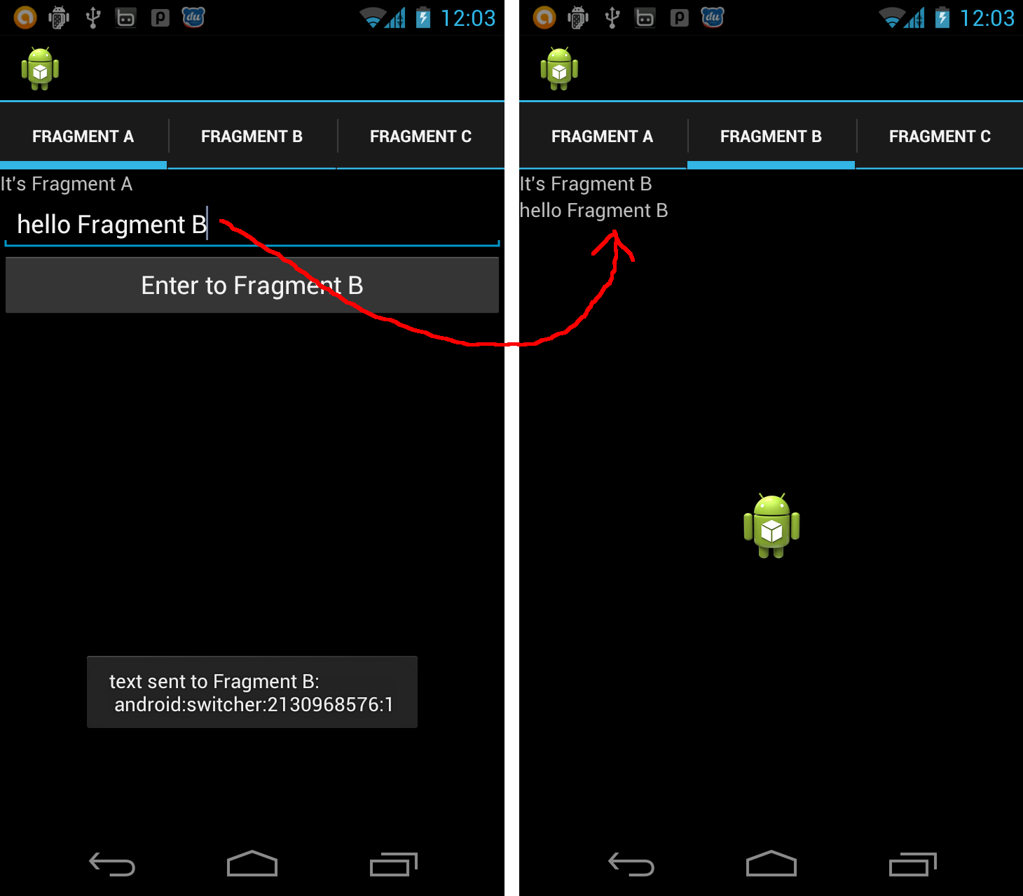 Android-er: Communication between Fragments in ViewPager