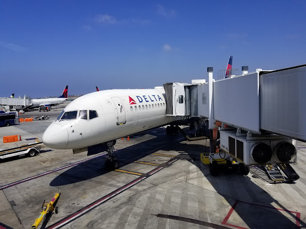 Delta Airplane at the gate