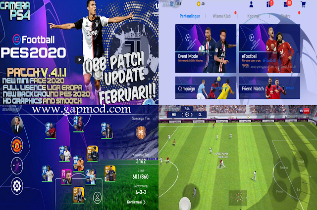 PES 2020 Mobile Patch Update Februari 2020