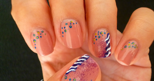 Summer Old Trend : Nail Art Carribean Waves