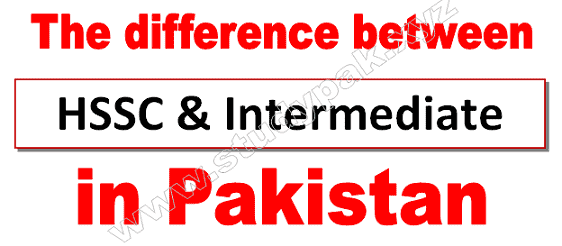 what is mean by hssc and intermediate in pakistan