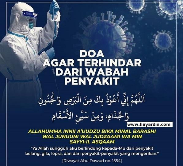 doa pendek supaya terhindari dari penyakit berbahaya