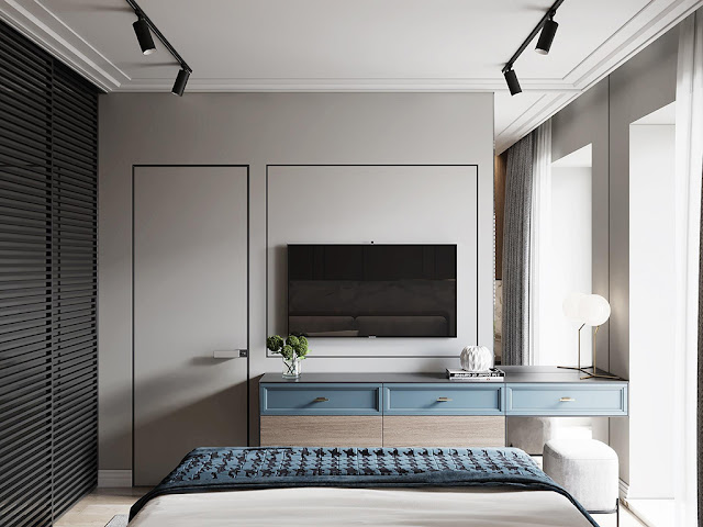 Thiết kế và thi công hoàn thiện nội thất căn hộ chung cư Eco Green Sài Gòn - Phòng Ngủ 2