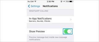 Menyembunyikan Preview Chat