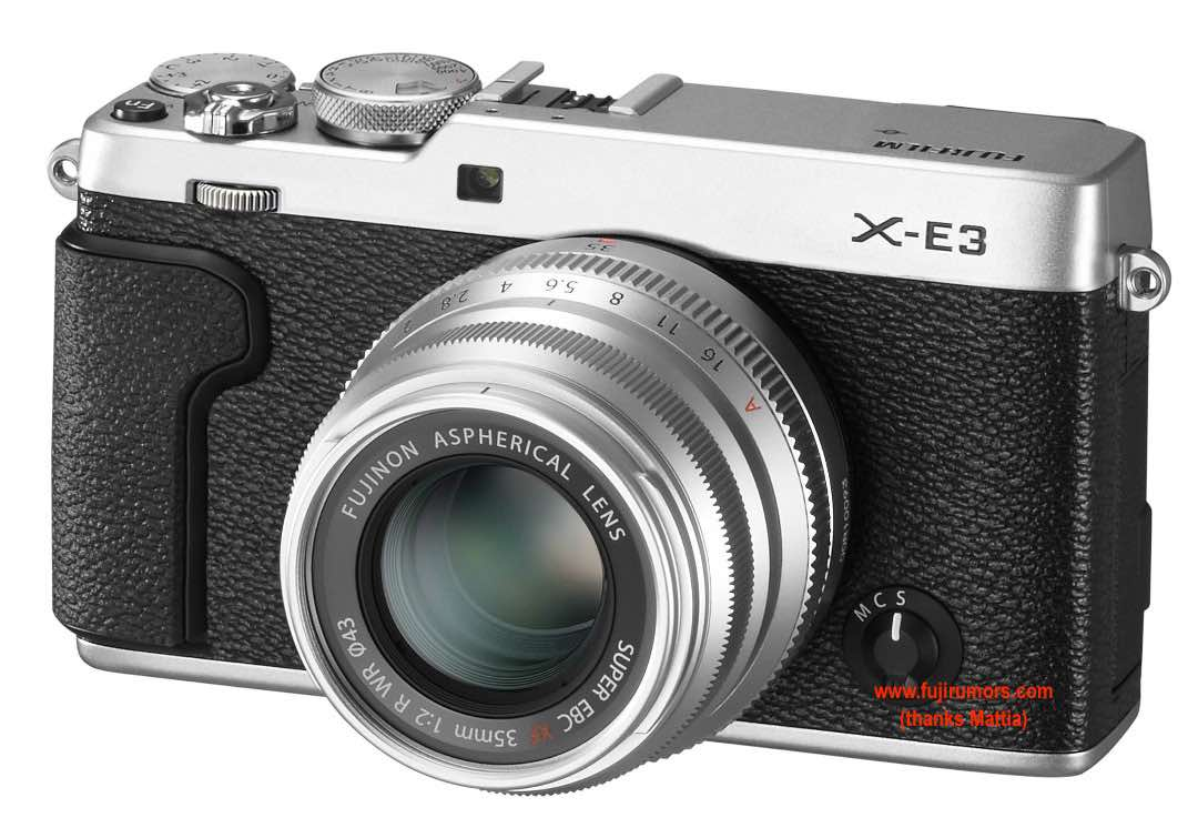 Возможный внешний вид Fujifilm X-E3