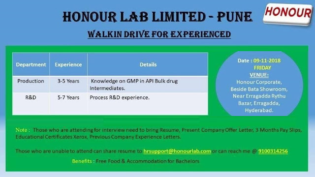 HONOUR LAB LTD - Walk-In Drive for Production & R&D at 9 November