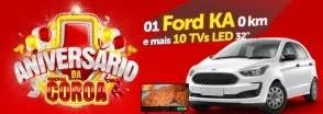 Promoção Comercial Coroa Aniversário 2019 Carro 0KM e 10 Televisores