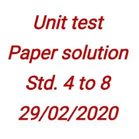 UNIT TEST PAPER SOLUTION 29/02/2020