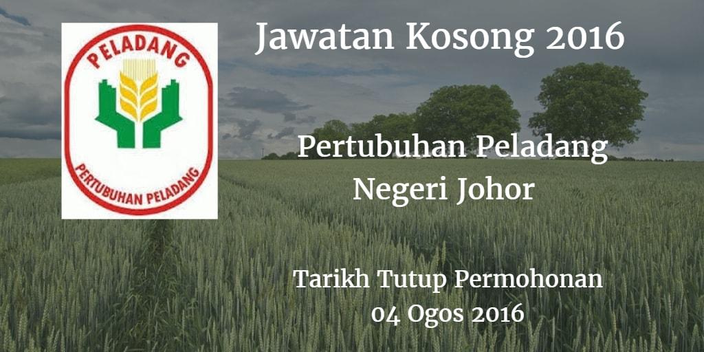 Jawatan Kosong Pertubuhan Peladang Negeri Johor 04 Ogos 2016