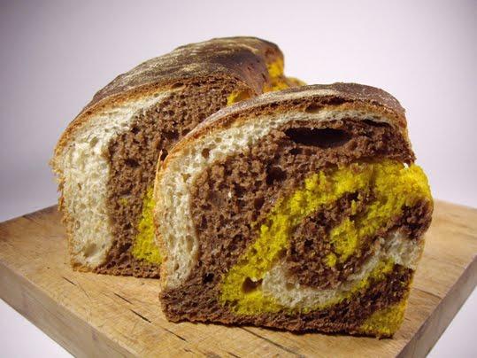 pan de molde tricolor