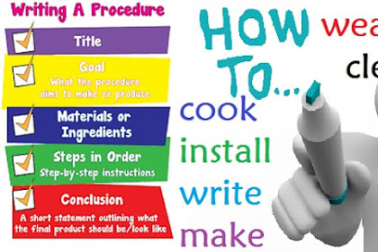 26 Examples of HOW TO Procedure Text