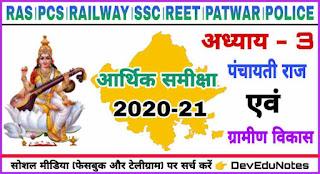 राजस्थान आर्थिक समीक्षा 2020-21