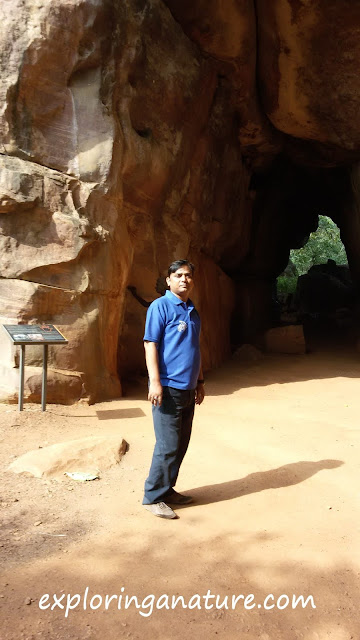 Manoj Nikhil at Bhimbetka- The Rock Shelters