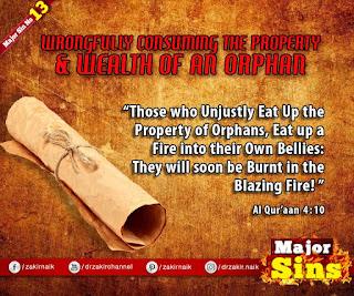 MAJOR SIN. 13. WRONGFULLY CONSUMING THE PROPERTY & WEALTH OF AN ORPHAN | Kabira Gunah