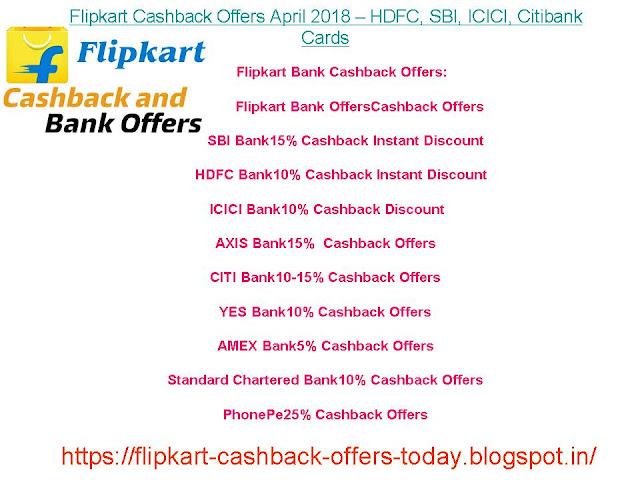Flipkart Cashback Offers 2018 – HDFC, SBI, ICICI, Citibank Cards