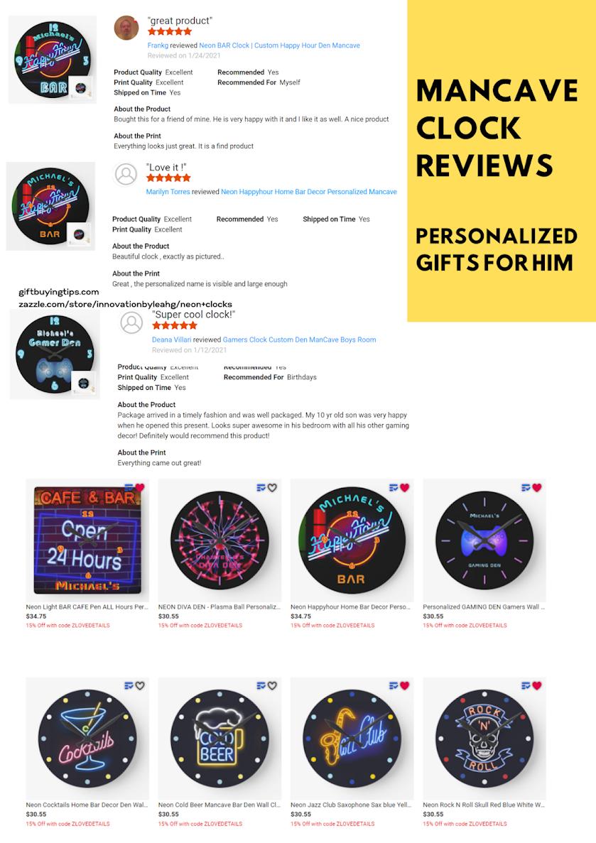 zazzle neon clock reviews
