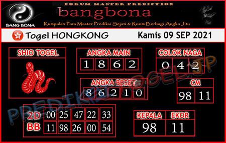 Prediksi Bangbona Togel Hongkong Kamis 09 September 2021