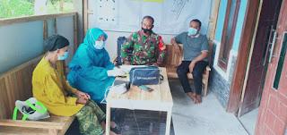 Wujudkan Wilayah Binaan Yang Sehat, Babinsa Dampingi Kegiatan Posbindu