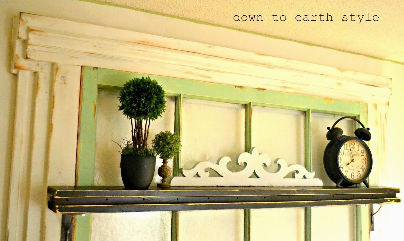 Down to Earth Style: Old Window Headboard
