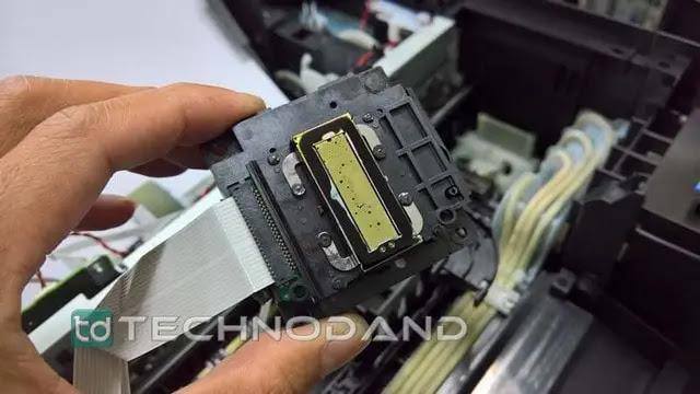 Melepas dan mengganti print head epson L110 L310 L210 L220