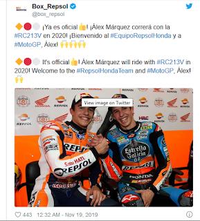 Resmi Alex Marquez Susul Marc Marquez Ke Repsol Honda Team